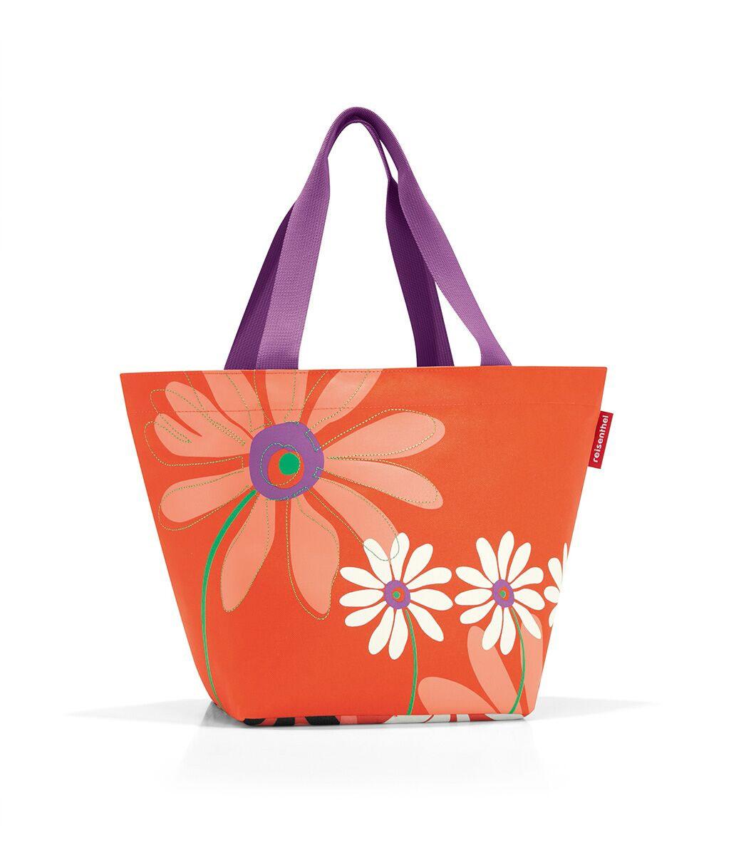 Сумка женская Reisenthel, цвет: оранжевый, мультиколор. ZS4043ZS4043Вместительная женская сумка Reisenthel, изготовленная из текстиля, оформлена оригинальным принтом и вышивкой. Сумка имеет одно отделение, которое закрывается на застежку-молнию. Внутри расположен нашивной карман на застежке-молнии. Сумка оснащена двумя длинными ручками.