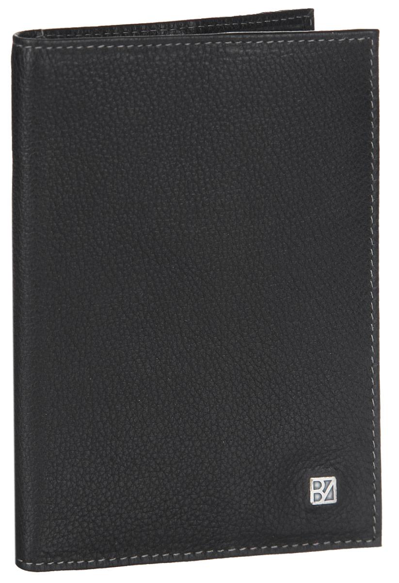 Обложка для паспорта мужская Bodenschatz, цвет: черный. 8-940/01