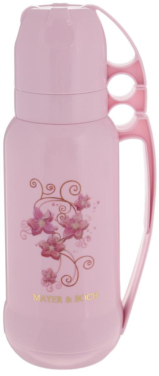 """Термос """"Mayer & Boch"""", с 2 чашами, цвет: розовый, 1,8 л. 21648"""