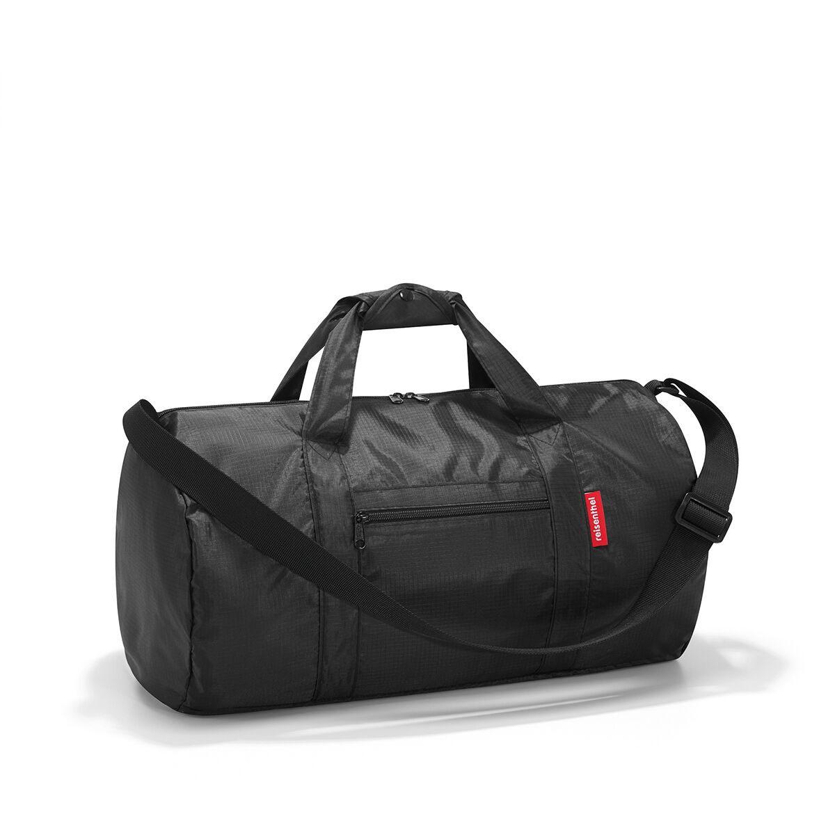 Сумка спортивная женская Reisenthel, цвет: черный. AM7003AM7003Универсальная сумка-трансформер серии Mini Maxi, предназначенная для путешествий и спорта. Подходит для хранения, компактно складывается в собственный внутренний карман. У модели вместительное основное отделение на молнии, экономит место при хранении и перевозке в сложенном состоянии, регулируемый наплечный ремень, ручки для переноски, регулируемые при помощи специальных застежек, два внешних кармана на молнии, материал: высококачественный водостойкий полиэстер, объем - 20 литров.