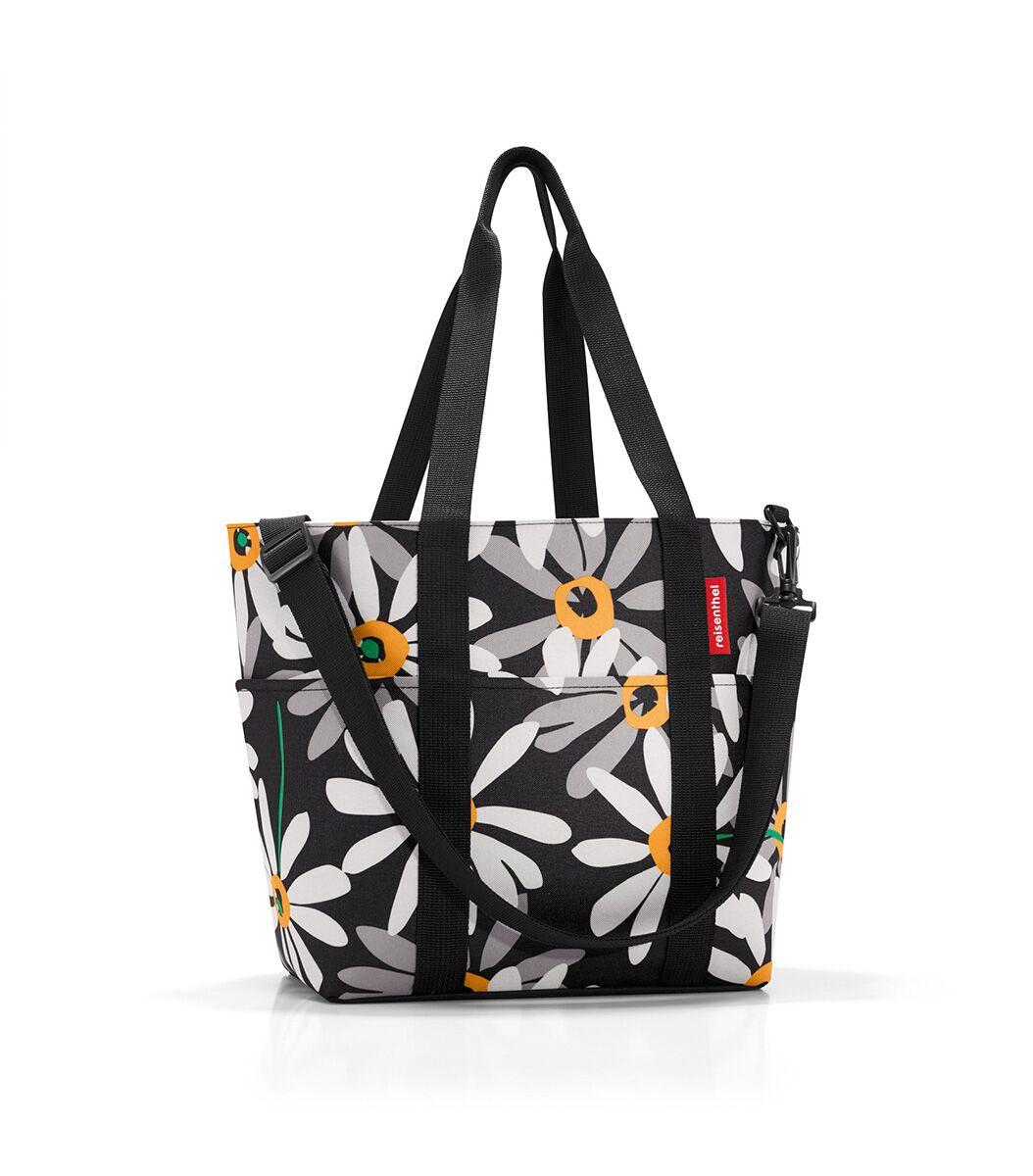 Сумка-шоппер жен. Reisenthel, цвет: черный. MZ7038MZ7038Универсальная сумка для прогулок, пикника или шоппинга. Продуманный дизайн сочетает внешнюю привлекательность и исключительную практичность. Изобилие карманов и отделений помогает держать в порядке даже большое количество разнообразных вещей. - вместительное основное отделение на молнии; - 2 удобные ручки для переноски; - съемный регулируемый наплечный ремень; - 4 внешних и 6 внутренних отделения. - небольшой потайной карман, вшитый в подкладку; - подкладка на дне, обеспечивающая прочность и стойкую форму; - материал: высококачественный водостойкий полиэстер; - объем – 15 литров.