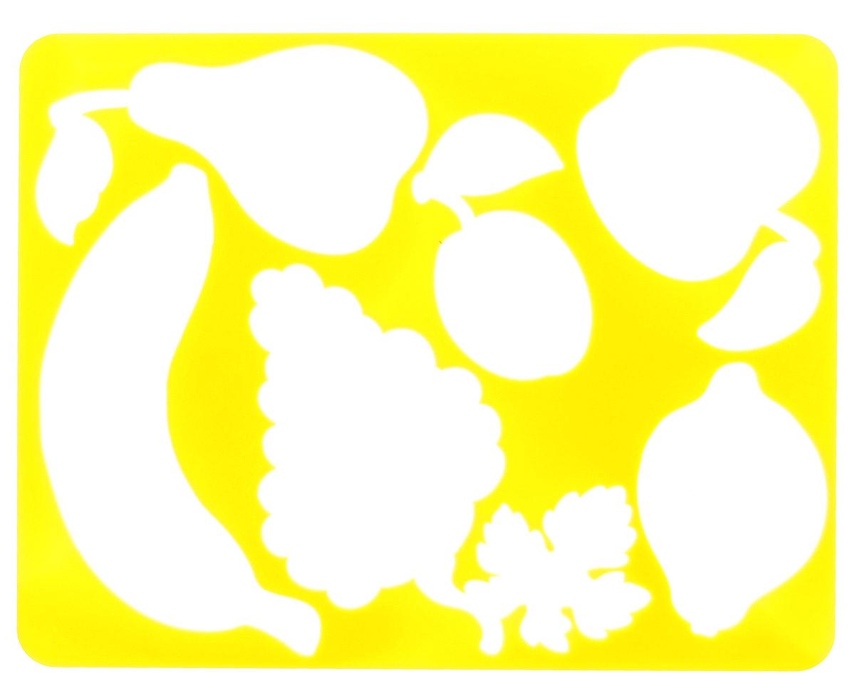 Луч Трафарет прорезной Фрукты цвет желтый9С 451-08_желтыйТрафарет прорезной Луч Фрукты, выполненный из безопасного пластика, предназначен для детского творчества. По трафарету маленький художник сможет нарисовать и отдельные виды фруктов, и композиции из них. Для этого необходимо положить трафарет на лист бумаги, обвести фигуру по контуру и раскрасить по своему вкусу или глядя на цветную картинку-образец. Трафареты предназначены для развития у детей мелкой моторики и двигательной координации, навыков художественной композиции и зрительного восприятия.