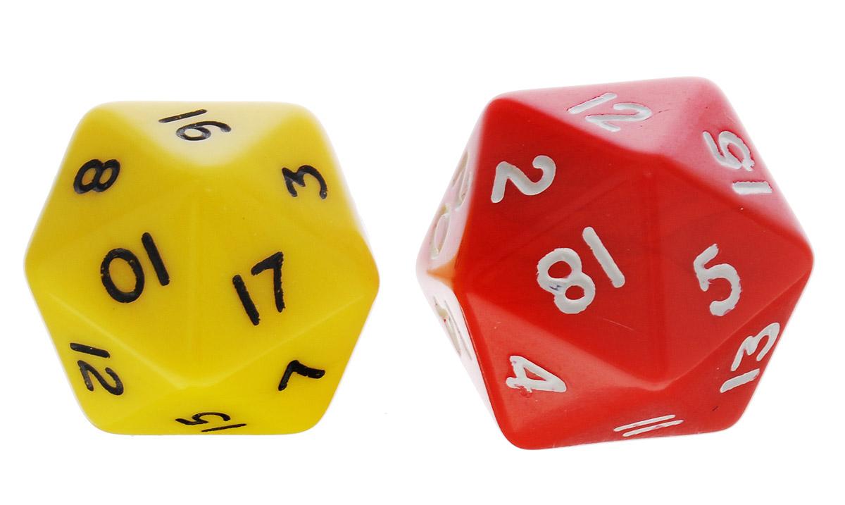 Koplow Games Набор игральных костей Простые D20 цвет желтый красный 2 шт