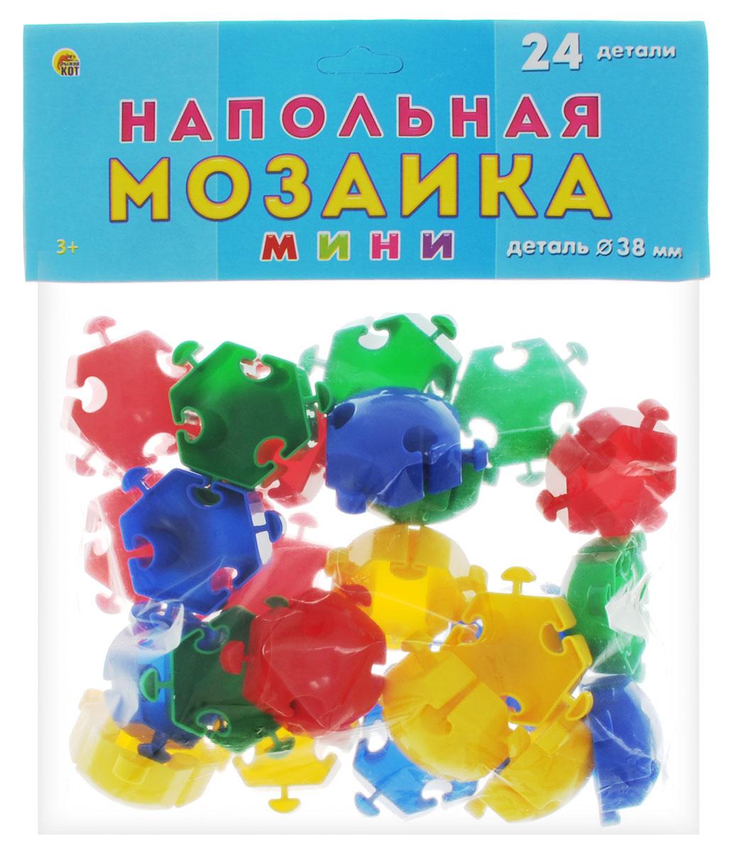 Рыжий Кот Мозаика напольная 24 элементаМ-0522Напольная мозаика Рыжий Кот - увлекательная развивающая игра для самых маленьких! Она развивает у ребёнка творческие способности, воображение, мелкую моторику рук, воображение, координацию движений. Эта мозаика открывает перед малышом неограниченные возможности создания собственных композиций. Конструкция мозаики позволяет с лёгкостью скреплять и фиксировать детали, которые состоят из высококачественных материалов, абсолютно безопасных для здоровья ребёнка. В комплекте 24 элемента мозаики.