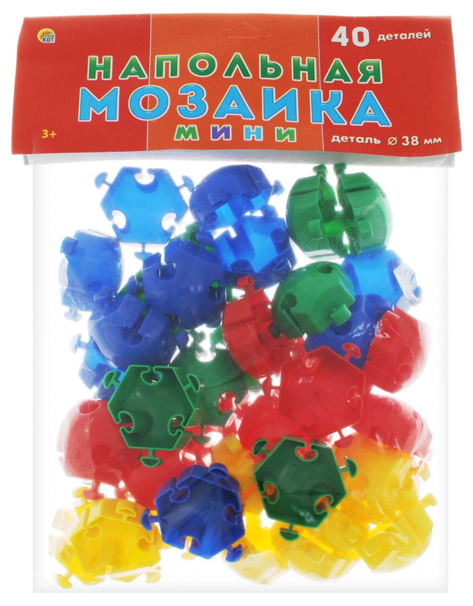 Рыжий Кот Мозаика напольная 40 элементовМ-0523Напольная мозаика Рыжий Кот - увлекательная развивающая игра для самых маленьких! Она развивает у ребёнка творческие способности, воображение, мелкую моторику рук, воображение, координацию движений. Эта мозаика открывает перед малышом неограниченные возможности создания собственных композиций. Конструкция мозаики позволяет с лёгкостью скреплять и фиксировать детали, которые состоят из высококачественных материалов, абсолютно безопасных для здоровья ребёнка. В комплекте 40 элементов мозаики.
