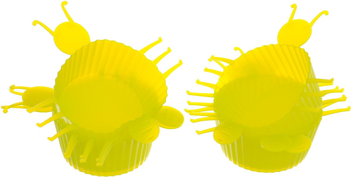 Набор форм для выпечки Mayer & Boch Букашка, цвет: салатовый, 6 шт3721_салатовыйНабор Mayer & Boch Букашка состоит из шести форм для выпечки, изготовленных из высококачественного силикона. Если вы любите побаловать своих домашних вкусным и ароматным угощением по вашему оригинальному рецепту, то набор форм Mayer & Boch Букашка как раз то, что вам нужно! Объем формы: 75 мл. Размер формы: 10 х 11 х 3 см.