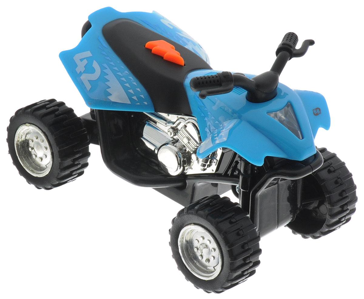 Toystate Машина Flash Rides цвет голубой33000TS_голубойЯркая машинка Toystate Road Rippers: Flash Rides со звуковыми и световыми эффектами непременно понравится вашему ребенку и не позволит ему скучать. Игрушка выполнена в виде яркого гоночного байка. При нажатии на кнопку, расположенную на сиденье, светится фара, воспроизводятся звуки двигателя, клаксона и играет музыка. Ваш ребенок часами будет играть с машинкой, придумывая различные истории и устраивая соревнования. Порадуйте его таким замечательным подарком! Для работы игрушки необходимы 2 батарейки типа AG13 (LR44) (товар комплектуется демонстрационными).