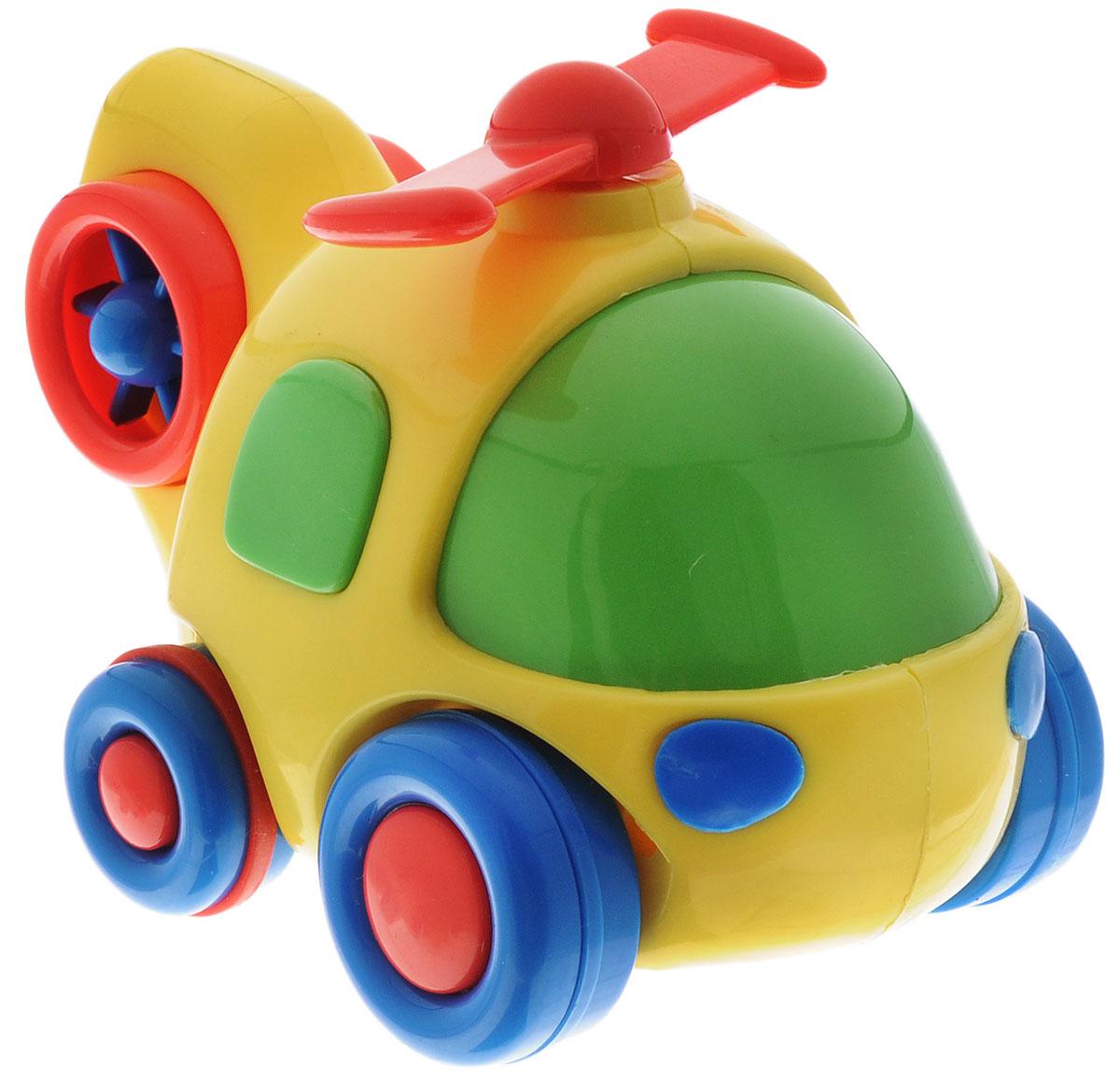 Simba Вертолет инерционный цвет желтый4015832_желтый, синие крыльяЯркая игрушка Simba Вертолет привлечет внимание вашего малыша и не позволит ему скучать! Выполненная из безопасного пластика, игрушка представляет собой забавный вертолет. Округлые без острых углов формы гарантируют безопасность даже самым маленьким. Для запуска, установите игрушку на поверхность, оттяните ее назад или прокатите вперед и отпустите, игрушка продолжит движение. Во время движения пропеллер начинает вращаться. Инерционная игрушка Вертолет поможет ребенку в развитии воображения, мелкой моторики рук, концентрации внимания и цветового восприятия.