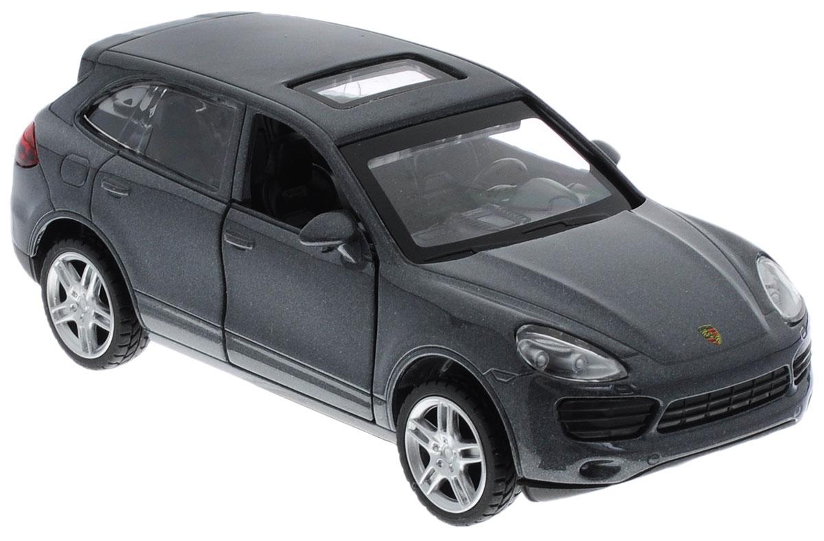 ТехноПарк Модель автомобиля Porsche Сayenne S цвет серый67302_серыйМодель автомобиля ТехноПарк Porsche Сayenne S - это точная копия оригинальной машины в масштабе 1:43. Выполненная из высококачественных материалов, она обязательно понравится не только ребенку, но и взрослому. Игрушечная модель оснащена металлическим корпусом и подвижными колесами. Передние двери машинки открываются, салон детализирован. Игрушка оснащена инерционным ходом. Для того чтобы автомобиль поехал вперед, необходимо его отвести назад, а затем отпустить. Прорезиненные колеса обеспечивают надежное сцепление с любой поверхностью пола. Машинка является отличным подарком для юного гонщика. Во время игры с такой машинкой у ребенка развиваются мелкая моторика рук, фантазия и воображение.