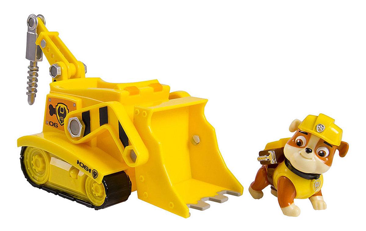 Paw Patrol Игровой набор Бульдозер Крепыша16601 RubbleИгровой набор Paw Patrol Бульдозер Крепыша станет отличным подарком маленьким поклонникам знаменитого мультсериала. В набор входит фигурка Крепыша, одного из щенков-спасателей, и его бульдозер. Мощный бульдозер оборудован поднимающимся ковшом и буром. Фигурку собачки можно с легкостью поместить в кабину машины. У собачки подвижные лапы и голова. Ваш малыш будет часами играть с этим набором, придумывая разные истории. Сделайте ему такой замечательный подарок! Щенячий патруль - канадский анимационный мультфильм, созданный Кит Чэпман. Первая серия мультфильма была показана в августе 2013 года. Игровой набор способствует развитию ребенка и надолго займет вашего малыша интересной игрой.