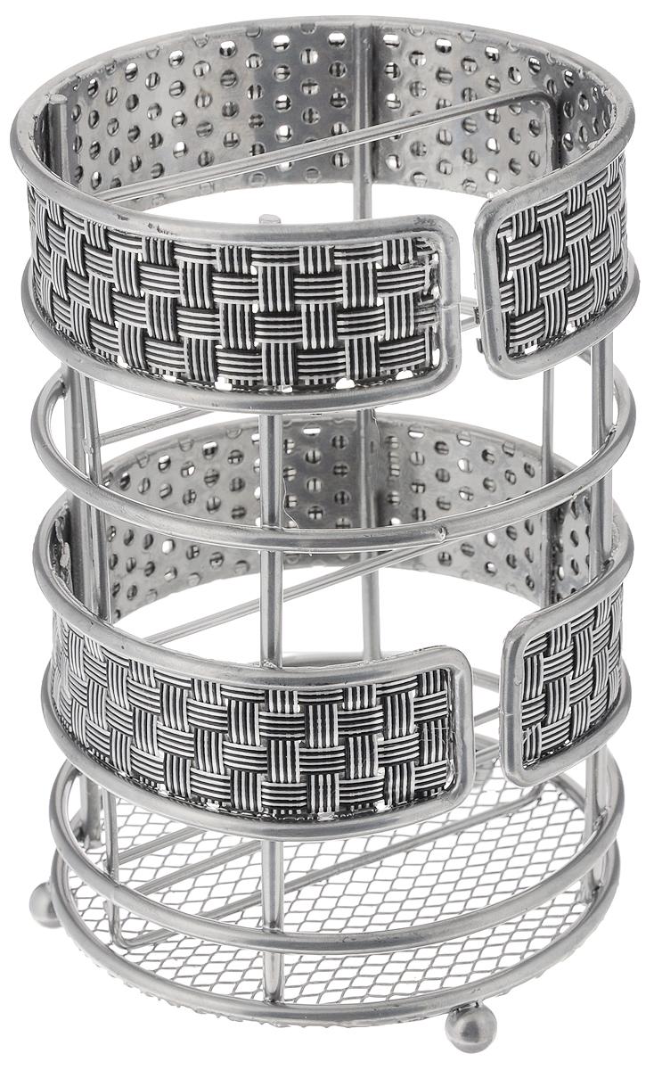 Подставка для столовых приборов Mayer & Boch, 11 х 11 х 16,5 см24301Подставка для столовых приборов Mayer & Boch, изготовленная из высококачественного металла с хромированным покрытием и нейлона, оснащена тремя круглыми ножками, которые обеспечивают ей устойчивость на любой поверхности. Красивая подставка для столовых приборов выполнена в оригинальном дизайне. Она не займет много места, а столовые приборы будут всегда под рукой.