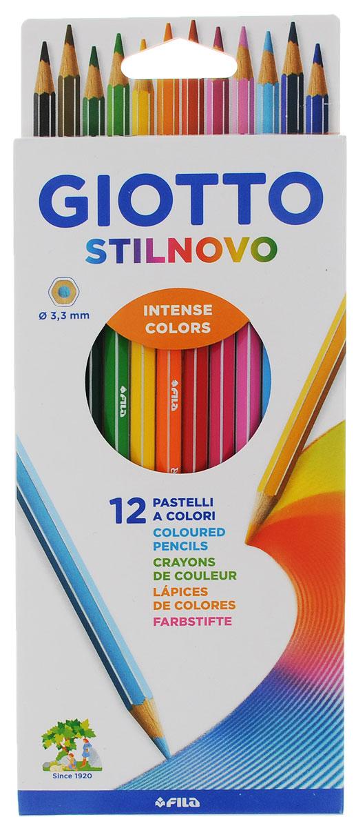 Giotto Набор цветных карандашей Stilnovo 12 цветов 256500