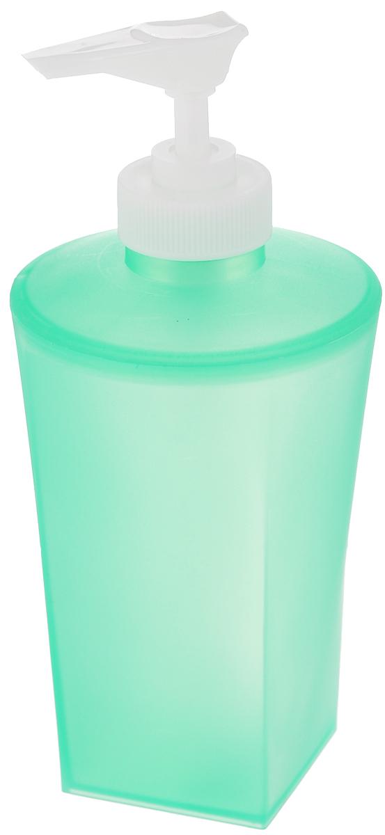 Дозатор для жидкого мыла Vanstore Summer Green, цвет: зеленый374-03Дозатор для жидкого мыла Vanstore Summer Green изготовлен из прочного пластика. Предназначен для жидкого мыла и разнообразных жидких лосьонов. Дозатором очень легко пользоваться: просто нажмите сверху на дозатор и выдавите необходимое количество мыла. Прозрачные стенки позволяет видеть количество оставшегося мыла. Благодаря классическому дизайну и практичности, такой дозатор идеально подойдет для вашей ванной комнаты или кухни.