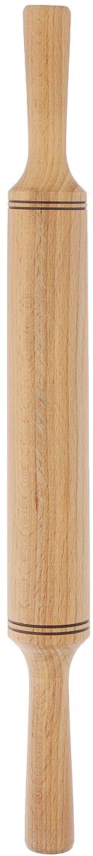 Скалка Хозяюшка, длина 43 см40-3Скалка Хозяюшка, изготовленная из бука, оснащена двумя удобными ручками. Бук прекрасно поддается шлифовке и полировке. Он не боится влаги, но, как в случае со всеми без исключения скалками из древесины, вопрос влагостойкости решается пропиткой дерева специальным минеральным или льняным маслом. Масло защищает скалку от коробления и растрескивания. Именно поэтому все скалки Хозяюшка обработаны льняным маслом и упакованы в пленку. Такая скалка поможет с легкостью готовить ваши любимые блюда. Длина скалки: 43 см. Длина валика: 23,5 см. Диаметр валика: 4,3 см.