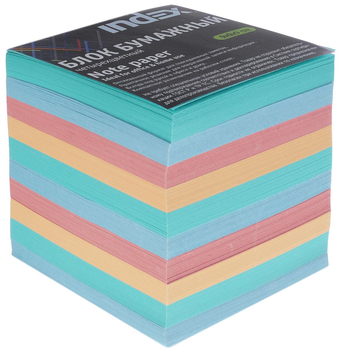 Index Блок для записей многоцветный цвет зеленый синий красный оранжевыйI9910/N/R_зеленый,синий,красный