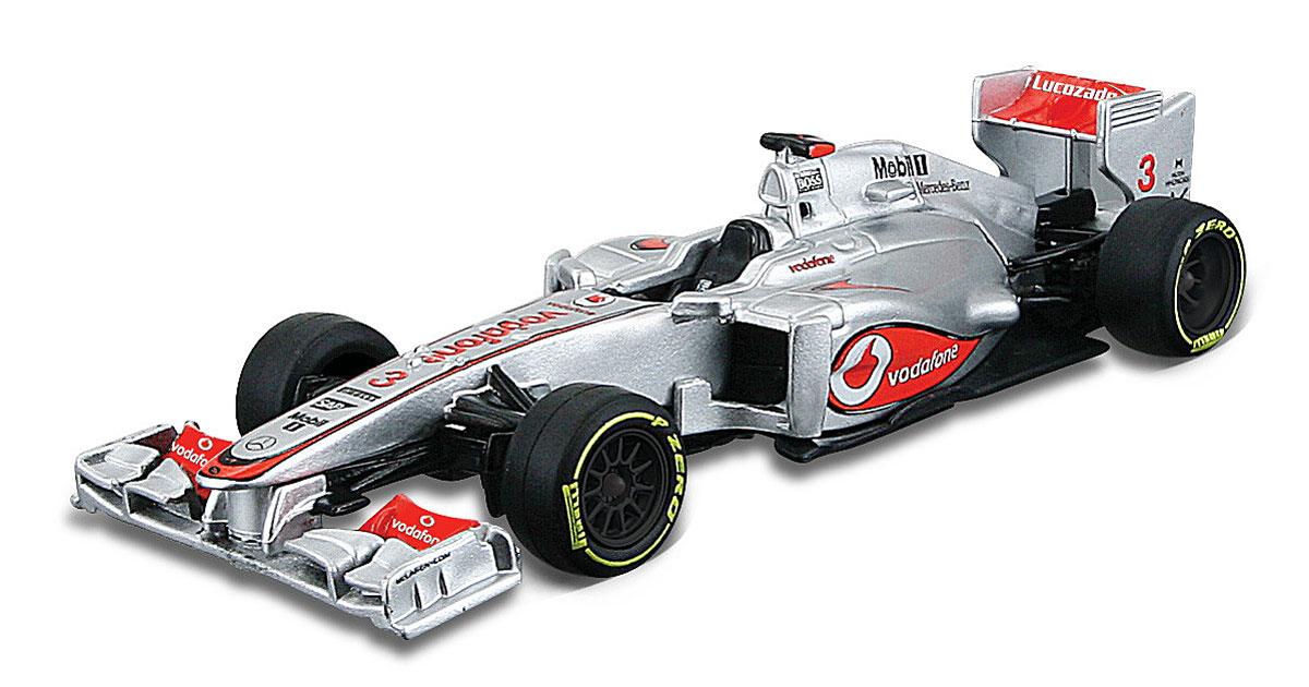 Bburago Модель автомобиля 2012 Vodafone McLaren Mercedes MP4-27 Jenson Button18-41205_серый, красныйМодель автомобиля Bburago McLaren Mercedes MP4-27 Jenson Button предназначена для тех, кто любит роскошь и высокие скорости. Модель представлена в масштабе 1:32 и в точности воспроизводит все детали внешнего облика реального гоночного автомобиля. Корпус автомобиля выполнен из металла с использованием пластиковых элементов, колеса прорезинены. Модель оснащена подвижными колесами. Во время игры с такой машинкой у ребенка развивается мелкая моторика рук, фантазия и воображение. Ваш малыш часами будет играть с моделью, придумывая различные истории и устраивая соревнования. Порадуйте его таким замечательным подарком!