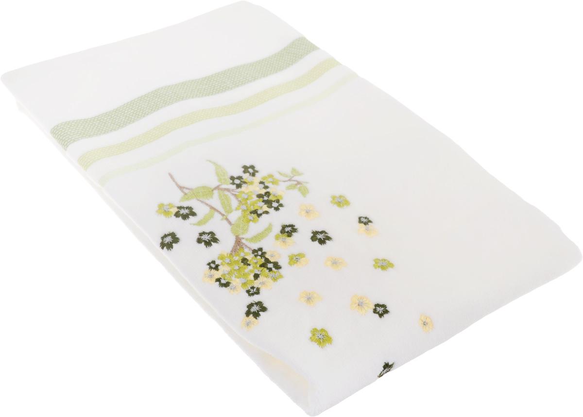 Полотенце махровое TAC Fusion, цвет: белый, зеленый, 50 x 90 см1050-84703Махровое полотенце TAC Fusion выполнено из натуральной махровой ткани (100% хлопок). Изделие отлично впитывает влагу, быстро сохнет, сохраняет яркость цвета и не теряет форму даже после многократных стирок. Полотенце очень практично и неприхотливо в уходе. Такое полотенце прекрасно дополнит интерьер ванной комнаты. Рекомендации по уходу: - режим стирки при 40°C, - допускается деликатная сухая химчистка, - отбеливание запрещено, - глажка при температуре 200°С, - рекомендуется щадящий барабанный отжим.