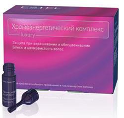 Estel Хромоэнергетический комплекс 10*5 млХЭКEstel Professional предлагает Хромоэнергетический комплекс, представляющий собой уникальное сочетание ухаживающих и защищающих компонентов, которые дополняют друг друга и оказывают явное положительное воздействие на волосы с первых же минут нанесения краски. ХЭК (Хромоэнергетический комплекс) Estel Professional - это эмульсия для защиты волос при окрашивании и обесцвечивании, придания блеска и шелковистости. Содержит уникальную комбинацию ухаживающих и защищающих компонентов, которые дополняют друг друга и оказывают мощное положительное воздействие на волосы с первых же минут нанесения. Придает блеск, мягкость и шелковистость; Защищает волосы во время окрашивания или обесцвечивания; Способствует выравниванию структуры волос; Содержит хитозан, экстракт каштана и богатый комплекс витаминов; Усиливает кондиционирующие свойства красящей (обесцвечивающей смеси). Хромоэнергетический комплекс рекомендуется для всех типов волос. Чтобы достигнуть идеального эффекта, необходимо добавлять ампулы...