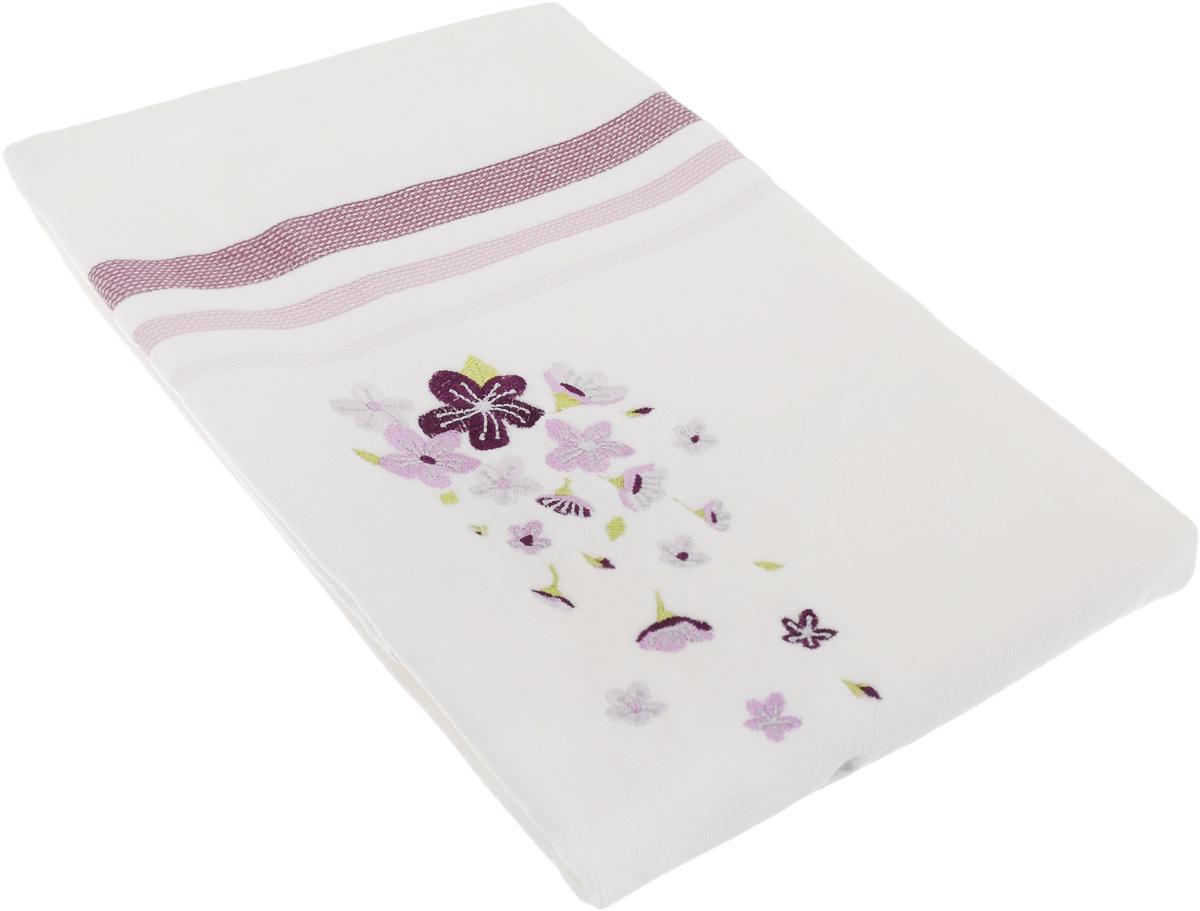 Полотенце махровое TAC Adelia, цвет: белый, сиреневый, 50 x 90 см1050-84693Махровое полотенце TAC Adelia выполнено из натуральной махровой ткани (100% хлопок). Изделие отлично впитывает влагу, быстро сохнет, сохраняет яркость цвета и не теряет форму даже после многократных стирок. Полотенце очень практично и неприхотливо в уходе. Такое полотенце прекрасно дополнит интерьер ванной комнаты. Рекомендации по уходу: - режим стирки при 40°C, - допускается деликатная сухая химчистка, - отбеливание запрещено, - глажка при температуре подошвы утюга до 200°С, - рекомендуется щадящий барабанный отжим.