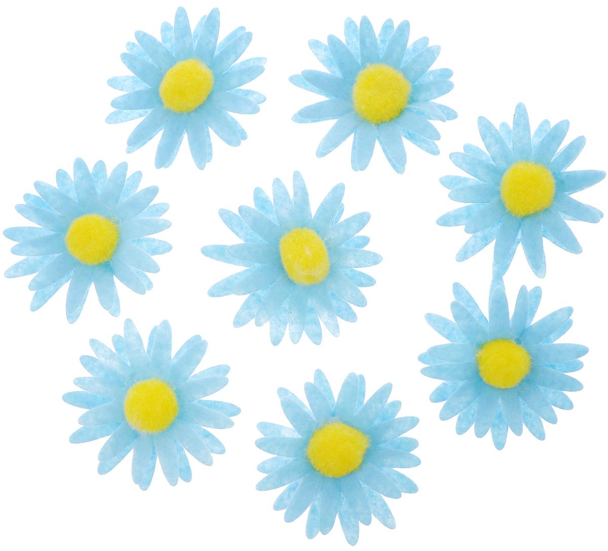 Набор для декорирования Home Queen Ромашка, на клейкой основе, цвет: голубой, 8 шт60874_голубойНабор Home Queen Ромашка состоит из 8 декоративных элементов, которые изготовлены из фетра в виде цветов. Они крепятся к поверхности благодаря бумаге на клейкой основе с обратной стороны и прекрасно подойдут для декора любой поверхности. Изделия можно использовать для украшения яиц, посуды, цветочных горшков, ваз и многого другого. Творчество способно приносить массу приятных эмоций не только человеку, который этим занимается, но и его близким, друзьям, родным. Набор Home Queen Ромашка красиво дополнит интерьер и создаст теплую весеннюю атмосферу. Отлично подойдет для декора дома к Пасхе. Размер элемента: 4,5 х 4,5 х 1 см.