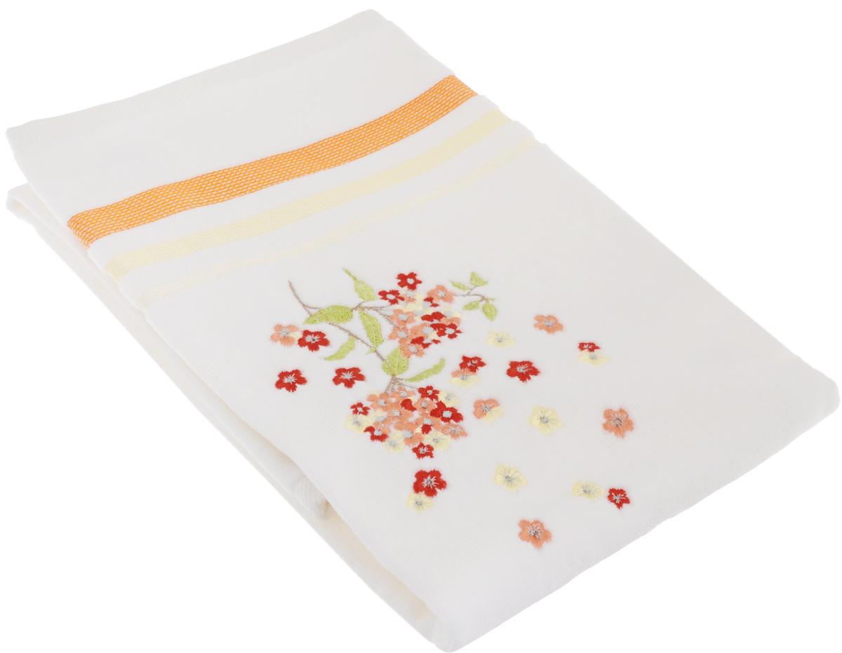 Полотенце махровое TAC Fusion, цвет: белый, оранжевый, 50 x 90 см1050-84707Махровое полотенце TAC Fusion выполнено из натуральной махровой ткани (100% хлопок). Изделие отлично впитывает влагу, быстро сохнет, сохраняет яркость цвета и не теряет форму даже после многократных стирок. Полотенце очень практично и неприхотливо в уходе. Такое полотенце прекрасно дополнит интерьер ванной комнаты. Рекомендации по уходу: - режим стирки при 40°C, - допускается деликатная сухая химчистка, - отбеливание запрещено, - глажка при температуре 200°С, - рекомендуется щадящий барабанный отжим.