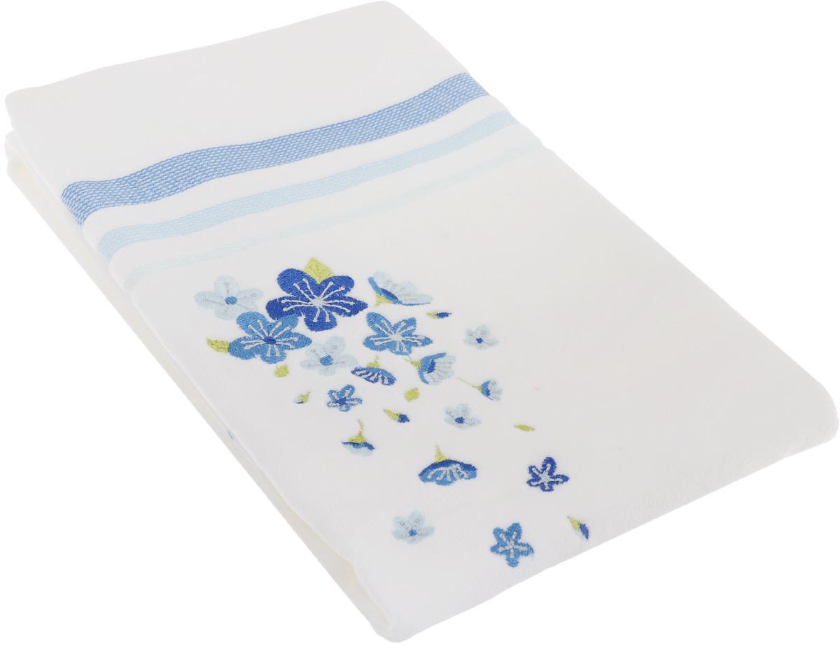 Полотенце махровое TAC Adelia, цвет: белый, голубой, 50 x 90 см1050-84694Махровое полотенце TAC Adelia выполнено из натуральной махровой ткани (100% хлопок). Изделие отлично впитывает влагу, быстро сохнет, сохраняет яркость цвета и не теряет форму даже после многократных стирок. Полотенце очень практично и неприхотливо в уходе. Такое полотенце прекрасно дополнит интерьер ванной комнаты. Рекомендации по уходу: - режим стирки при 40°C, - допускается деликатная сухая химчистка, - отбеливание запрещено, - глажка при температуре подошвы утюга до 200°С, - рекомендуется щадящий барабанный отжим.