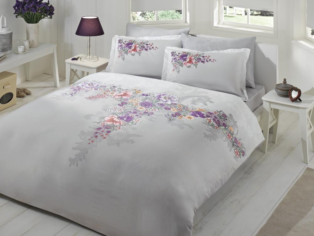 Комплект белья TAC Lona, 1,5-спальный, наволочки 50х70, цвет: серый, розовый7029BРоскошный комплект постельного белья TAC Lona выполнен из качественного плотного сатина с использованием фирменного нанесения Pano. Комплект состоит из пододеяльника, простыни и двух наволочек. Пододеяльник застегивается на пуговицы. Сатин – гладкая и прочная ткань, которая своим блеском, легкостью и гладкостью похожа на шелк, но выгодно отличается от него в цене. Сатин практически не мнется, поэтому его можно не гладить. Ко всему прочему, он весьма практичен, так как хорошо переносит множественные стирки. Доверьте заботу о качестве вашего сна высококачественному натуральному материалу.