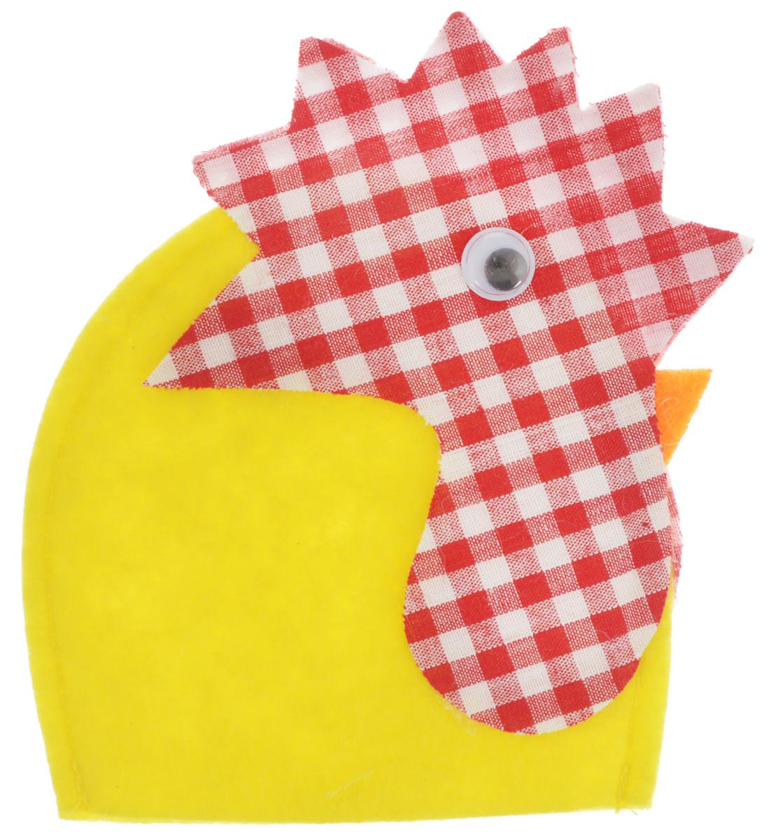 Грелка для яйца декоративная Home Queen Петушок, 8,5 х 11,5 см64521_2Декоративная грелка для яйца Home Queen Петушок изготовлена из фетра и текстиля. Мягкая и приятная на ощупь, грелка внесет частичку тепла и веселья в ваш дом, а также станет замечательным подарком для друзей и близких.