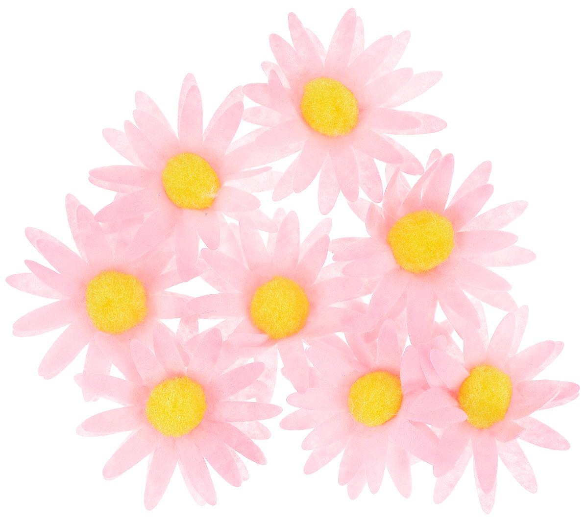 Набор для декорирования Home Queen Ромашка, на клейкой основе, цвет: розовый, 8 шт60874_3Набор Home Queen Ромашка состоит из 8 декоративных элементов, которые изготовлены из фетра в виде цветов. Они крепятся практически на любую поверхность при помощи клейкой основы с обратной стороны. Изделия можно использовать для украшения яиц, посуды, цветочных горшков, ваз и многого другого. Творчество способно приносить массу приятных эмоций не только человеку, который этим занимается, но и его близким, друзьям, родным. Набор Home Queen Ромашка красиво дополнит интерьер и создаст теплую весеннюю атмосферу. Отлично подойдет для декора дома к Пасхе. Диаметр элемента: 4,5 см.