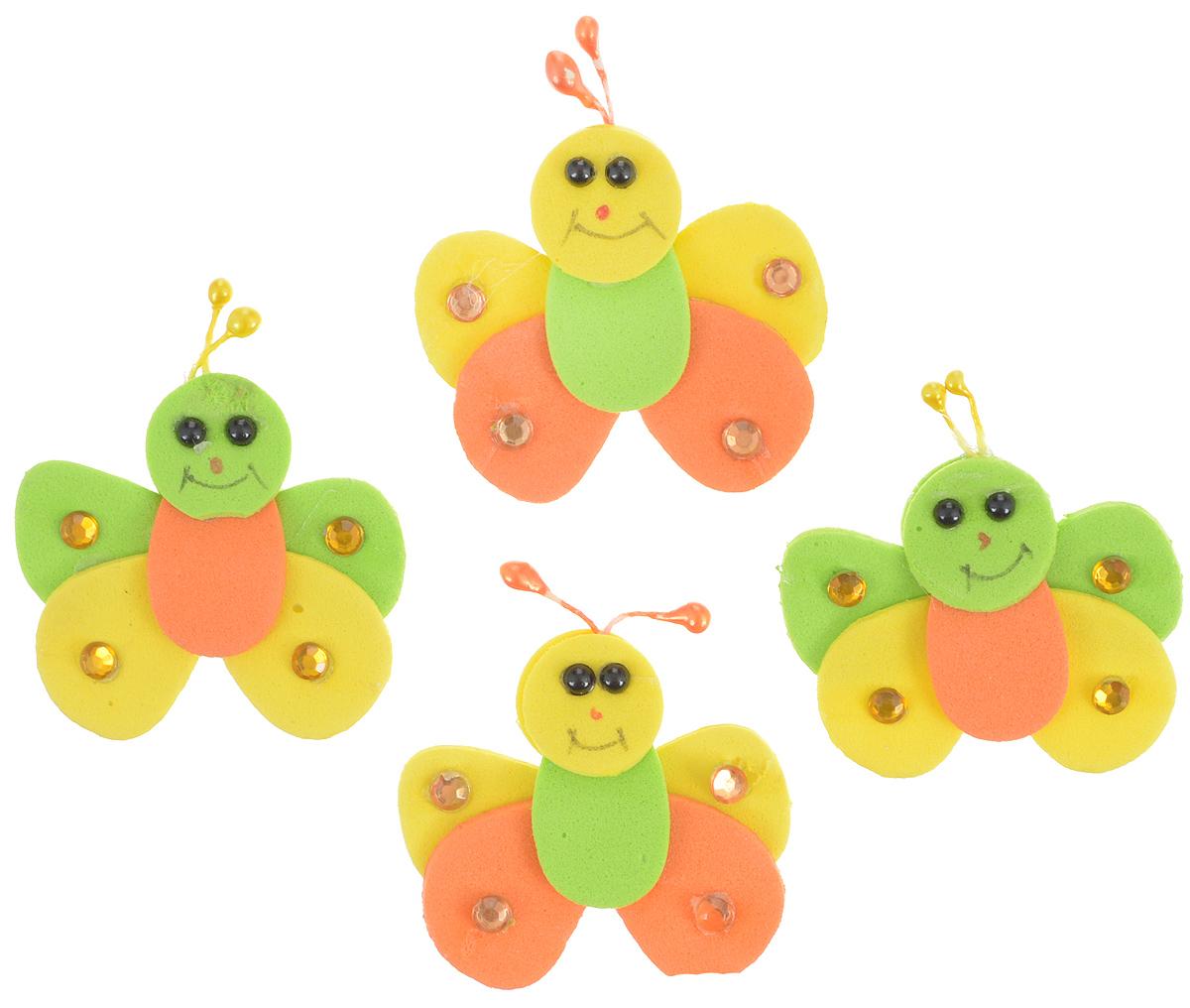 Набор для декорирования Home Queen Букашка, на клейкой основе, 4 шт58225_2Набор Home Queen Букашка состоит из 4 декоративных элементов, которые изготовлены из вспененной резины в виде букашек. Они крепятся практически на любую поверхность при помощи клейкой основы с обратной стороны. Изделия можно использовать для украшения яиц, посуды, цветочных горшков, ваз и многого другого. Творчество способно приносить массу приятных эмоций не только человеку, который этим занимается, но и его близким, друзьям, родным. Набор Home Queen Букашка красиво дополнит интерьер и создаст теплую весеннюю атмосферу. Отлично подойдет для декора дома к Пасхе. Размер элемента: 4 х 5 см.