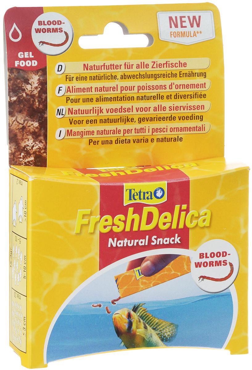 Лакомство для рыб Tetra FreshDelica Bloodworms, с мотылем, желе, 48 г768741Лакомство для рыб Tetra FreshDelica Bloodworms - это инновационный питательный натуральный корм, насыщенное желе для любых тропических рыбок. Обеспечивает рыбкам естественный, разнообразный и здоровый рацион, а вам - удовольствие от кормления и общения со своими питомцами. Это идеальная кормовая добавка для использования в сочетании с основным кормом TetraMin. Особенности: - Натуральное угощение для любых декоративных рыбок. - Содержит цельные водные организмы, находящиеся в желе, обогащенном витаминами и питательными веществами. - Свежий и натуральный вкус обязательно понравится рыбам. - Для целевого здорового кормления, которое принесет больше удовольствия от общения со своими питомцами. - Упакован в стерильные свободные от микробов удобные пакетики (16 шт по 3 г). - Содержит в два раза больше питательных веществ, чем замороженный корм. - Удобная, натуральная и безопасная альтернатива замороженному корму. - Без добавления...