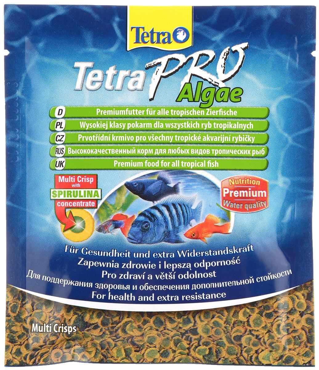 Корм Tetra TetraPro. Algae для всех видов тропических рыб, чипсы, 12 г149397Полноценный высококачественный корм Tetra TetraPro. Algae для всех видов тропических рыб разработан для поддержания здоровья и придания дополнительной стойкости. Особенности Tetra TetraPro. Algae: - щадящая низкотемпературная технология изготовления для высокой питательной ценности и стабильности витаминов; - концентрат спирулина для повышения сопротивляемости организма; - инновационная форма чипсов для минимального загрязнения воды; - идеально подходит для растительноядных рыб; - легкое кормление. Рекомендации по кормлению: кормить несколько раз в день маленькими порциями. Состав: рыба и побочные рыбные продукты, зерновые культуры, экстракты растительного белка, дрожжи, моллюски и раки, масла и жиры, водоросли (спирулина 1%). Аналитические компоненты: сырой белок - 46%, сырые масла и жиры - 12%, сырая клетчатка - 3%, влага - 9%. Добавки: витамины, провитамины и химические вещества с аналогичным воздействием,...