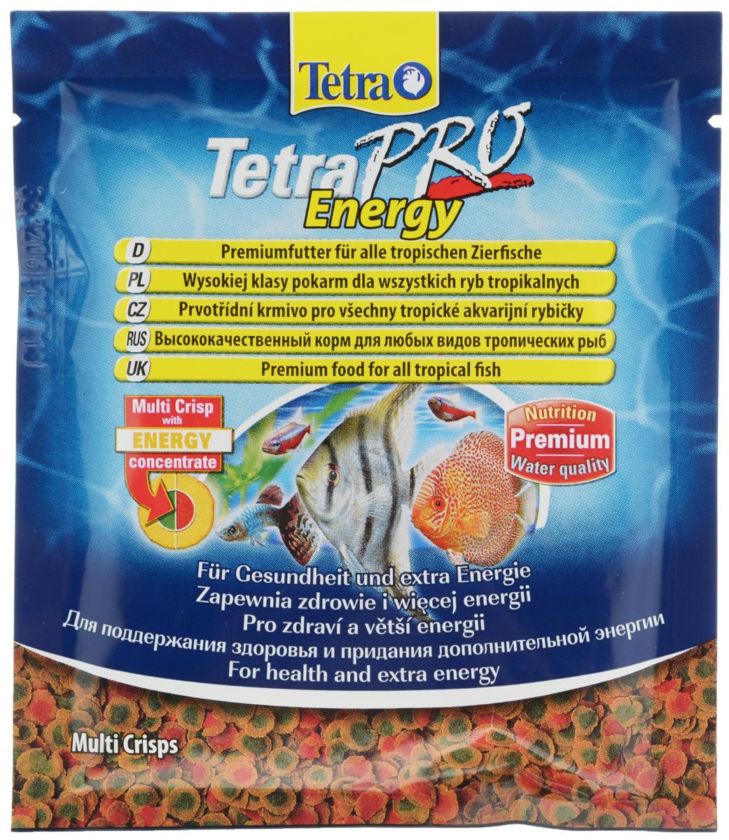 Корм Tetra TetraPro. Energy для всех видов тропических рыб, чипсы, 12 г149335Полноценный высококачественный корм Tetra TetraPro. Energy для всех видов тропических рыб разработан для поддержания здоровья и придания дополнительной энергии. Особенности Tetra TetraPro. Energy: - щадящая низкотемпературная технология изготовления обеспечивает высокую питательную ценность и стабильность витаминов; - энергетический концентрат для дополнительной энергии; - инновационная форма чипсов для минимального загрязнения воды отходами; - легкое кормление. Рекомендации по кормлению: кормить несколько раз в день маленькими порциями. Состав: рыба и побочные рыбные продукты, зерновые культуры, экстракты растительного белка, дрожжи, моллюски и раки, масла и жиры, водоросли, сахар. Аналитические компоненты: сырой белок - 46%, сырые масла и жиры - 12%, сырая клетчатка - 2,0%, влага - 9%. Добавки: витамины, провитамины и химические вещества с аналогичным воздействием: витамин А 29880 МЕ/кг, витамин Д3 1865 МЕ/кг,...