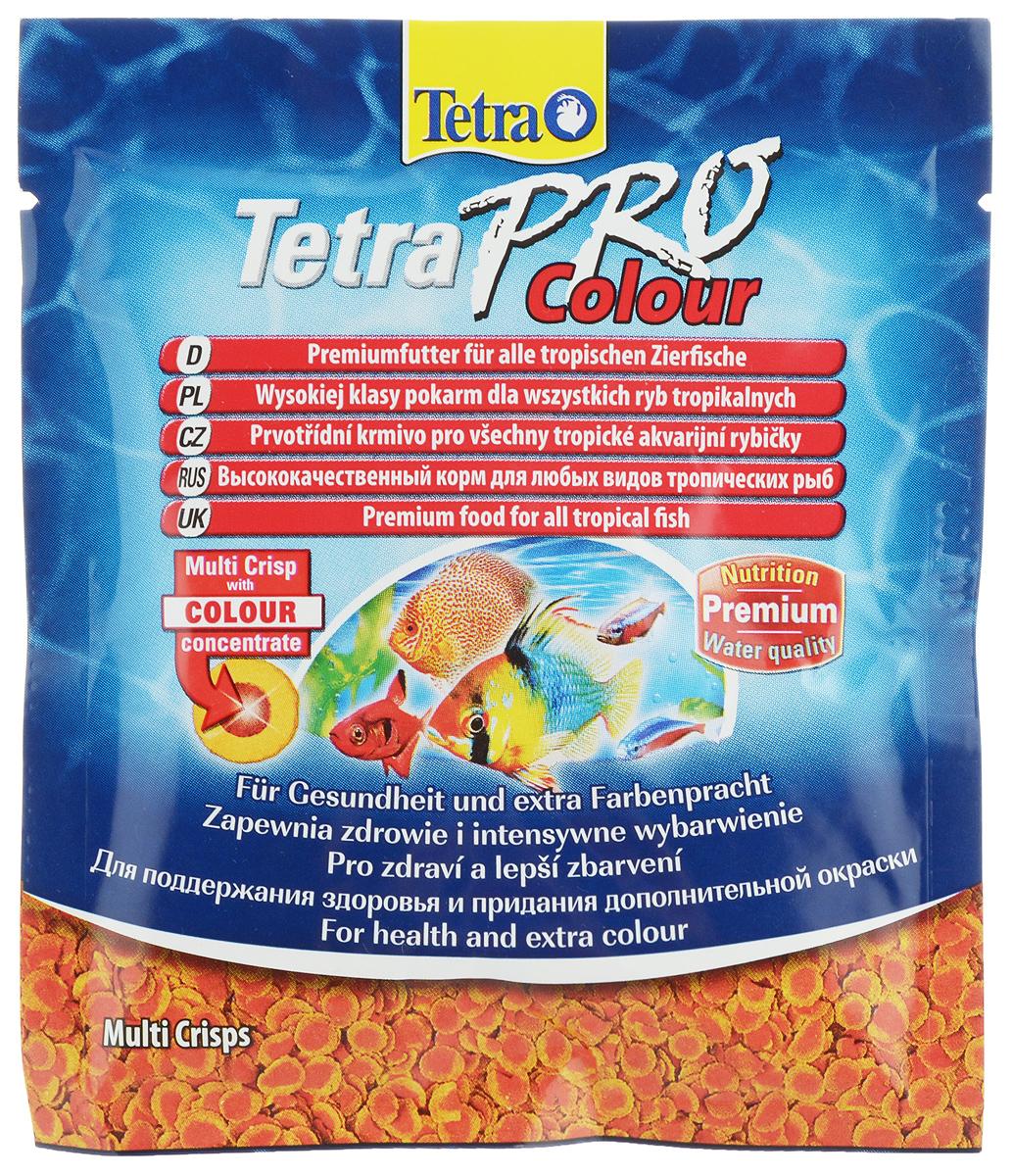 Корм Tetra TetraPro. Color для улучшения окраса всех видов декоративных рыб, чипсы, 12 г149366Корм Tetra TetraPro. Color - кормовые чипсы, предназначенные для улучшения яркости окраса декоративных рыбок. В составе имеется высокое содержание каротиноидов, которые усиливают яркий естественный окрас рыбок. При регулярном кормлении усиление цвета заметно уже через две недели. Кормить рыбок чипсами необходимо маленькими дозами и несколько раз в сутки. Состав: рыба и побочные рыбные продукты, зерновые культуры, экстракты растительного белка, дрожжи, моллюски и раки, масла и жиры, водоросли, сахар. Аналитические компоненты: сырой белок - 46%, сырые масла и жиры - 12%, сырая клетчатка - 3%, содержание влаги - 9%. Товар сертифицирован.