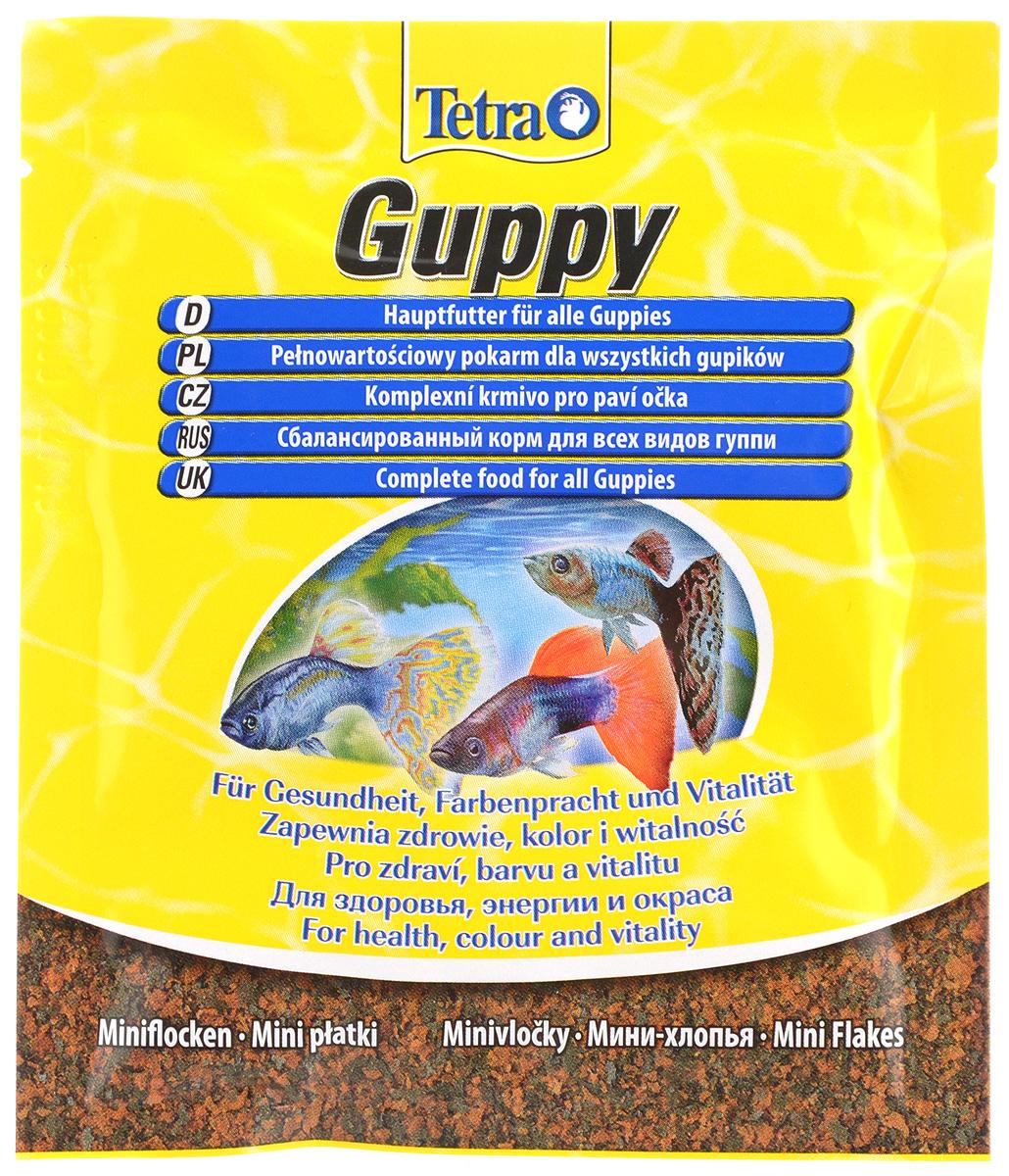 Корм для гуппи Tetra Guppy, мини-хлопья, 12 г193741Корм Tetra Guppy - сбалансированный корм в виде хлопьев для всех видов гуппи и иных живородящих рыб. Высокое содержание растительных ингредиентов и минералов для улучшения вкусовых качеств и роста. Ежедневное употребление питательного состава способствует улучшению иммунитета и развитию организма. Кормить несколько раз в день маленькими порциями. Состав: экстракты растительного белка, зерновые культуры, дрожжи, моллюски и раки, масла и жиры, водоросли, сахар, минеральные вещества. Аналитические компоненты: сырой белок - 45%, сырые масла и жиры - 8%, сырая клетчатка - 4%, содержание влаги - 8%. Товар сертифицирован.