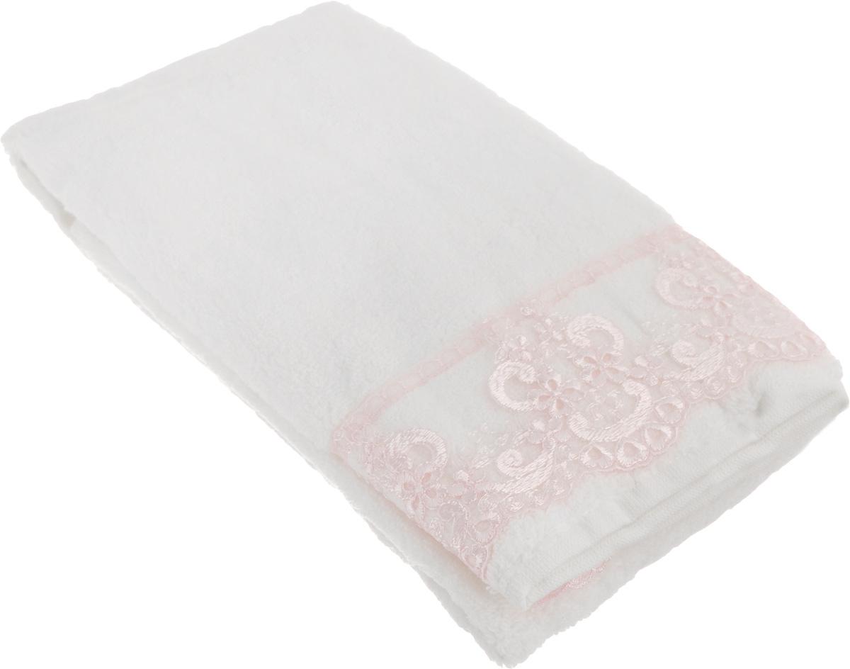 Полотенце махровое TAC Zero Twist, цвет: кремовый, розовый, 50 x 90 см. 10341034-84637Махровое полотенце TAC Zero Twist выполнено из натуральной махровой ткани (100% хлопок). Изделие отлично впитывает влагу, быстро сохнет, сохраняет яркость цвета и не теряет форму даже после многократных стирок. Полотенце очень практично и неприхотливо в уходе. Такое полотенце прекрасно дополнит интерьер ванной комнаты. Рекомендации по уходу: - режим стирки при 40°C, - допускается деликатная сухая химчистка, - отбеливание запрещено, - глажка при температуре 200°С, - рекомендуется щадящий барабанный отжим.