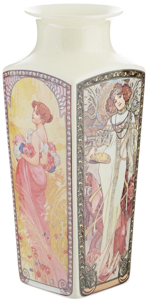 Ваза Elan Gallery Времена года, высота 21 см503047Стильная ваза Elan Gallery Времена года изготовлена из высококачественного фарфора. Интересная форма и необычное оформление сделают эту вазу замечательным украшением интерьера. Аксессуар с расширенным горлышком вместит в себя достаточно пышный букет. Более того, в вазе с интересной текстурой превосходно будут смотреться декоративные веточки и сухоцветы. Любое помещение выглядит незавершенным без правильно расположенных предметов интерьера. Они помогают создать уют, расставить акценты, подчеркнуть достоинства или скрыть недостатки.