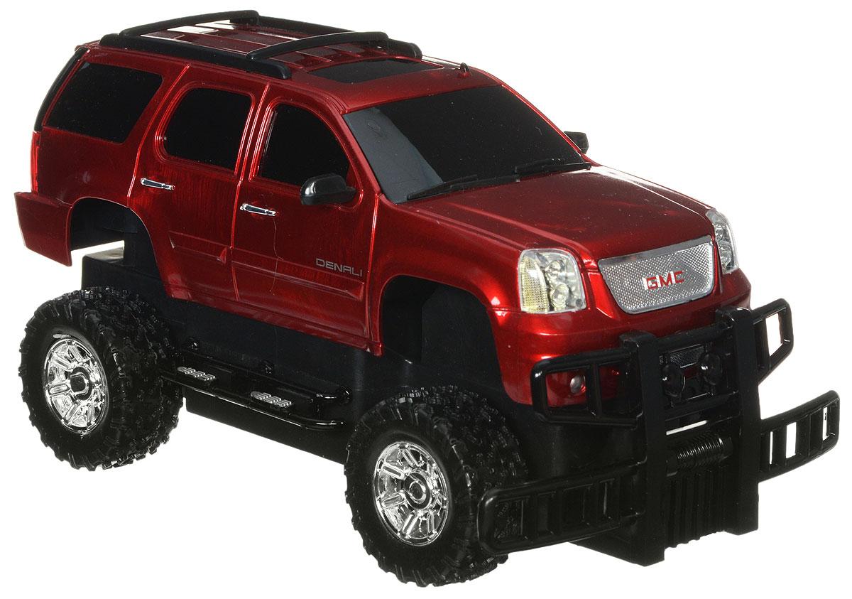 Guokai Машинка инерционная GMC Yukon Denali1120866/866-82403_красныйМашина 1:24 GMC 866-82403 инерционная, со светом, на батарейках, в коробке, 19 х 9 х 6,5см ТМ GK Racer S