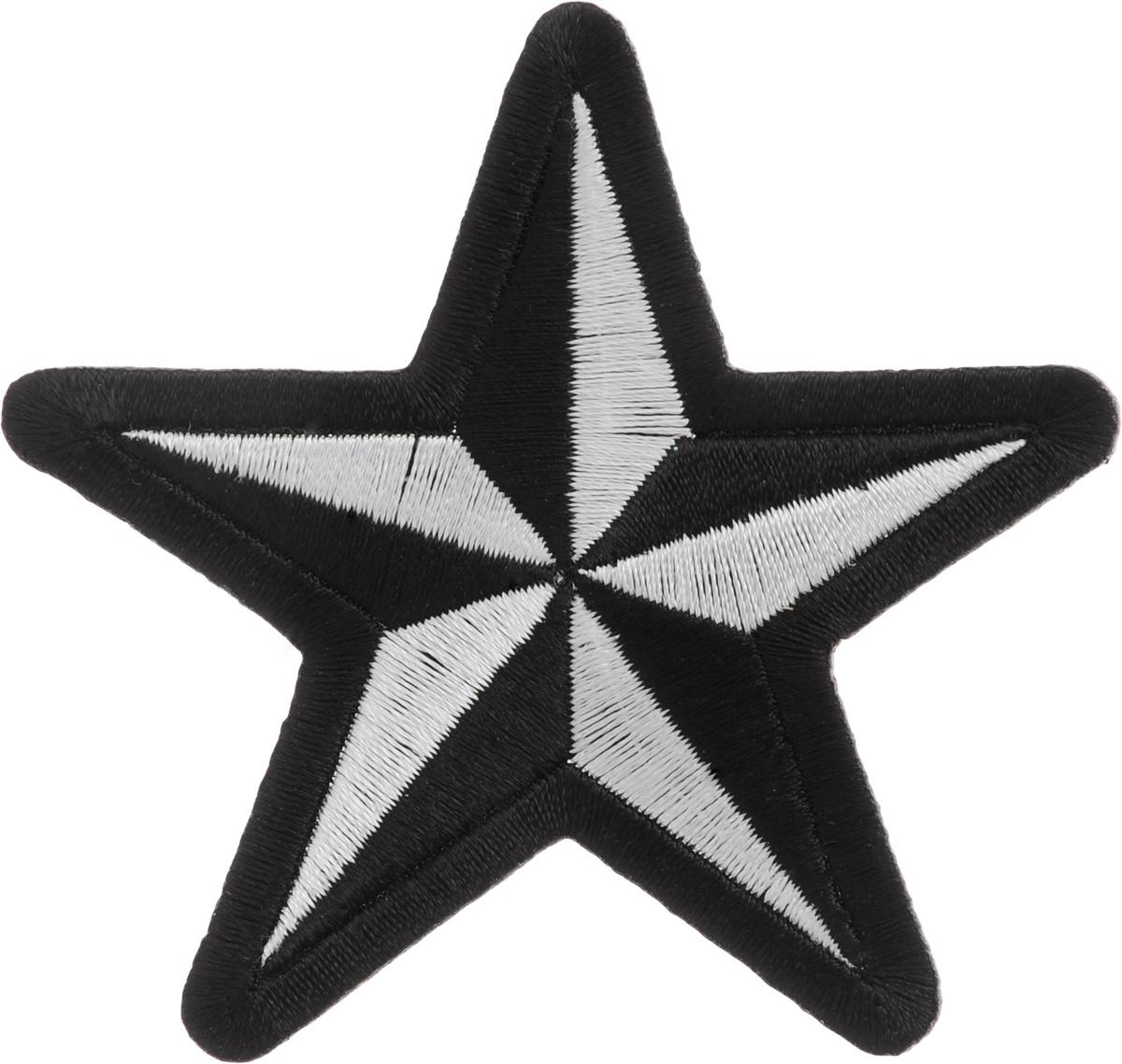 Термоаппликация Hobby&Pro Звезда, цвет: черный, белый, 7,5 х 7,5 см678060Термоаппликация Hobby&Pro Звезда изготовлена из текстиля. Изделие закрепляется на ткани при помощи утюга. Установите утюг на отметку Max, расположите аппликацию на изделии и прогладьте несколько раз через ткань с лицевой и изнаночной стороны. С такой термоаппликацией вы сможете обновить старые джинсы, рубашки, кофты, детскую одежду, вещь станет неповторимой и особенной.