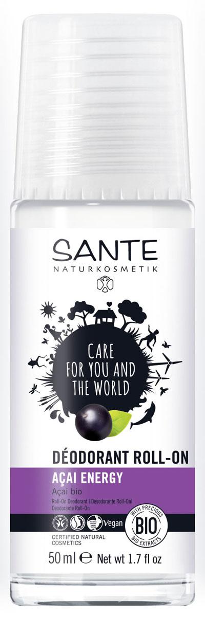 SANTE Дезодорант шариковый Энергия Асаи, 50 мл44561Защитит от неприятного запаха мягко и надолго. Сочетание эфирных масел усиливает дезодорирующий эффект и дарит ощущение свежести.