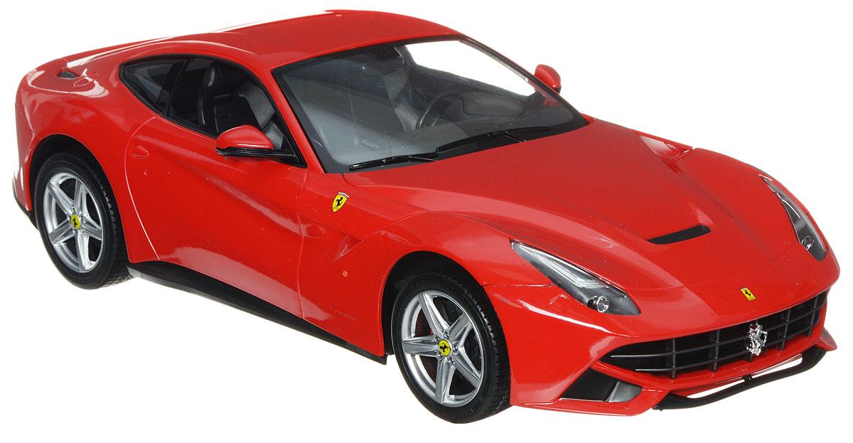 Rastar Радиоуправляемая модель Ferrari F12 Berlinetta цвет красный масштаб 1:1449100Радиоуправляемая модель Rastar Ferrari F12 Berlinetta предназначена для тех, кто любит роскошь и высокие скорости. Благодаря броской внешности, а также великолепной точности, с которой создатели этой модели масштабом 1:14 передали внешний вид настоящего автомобиля, модель станет подлинным украшением любой коллекции авто. Управление машиной происходит с помощью пульта. Машинка двигается вперед и назад, поворачивает направо, налево и останавливается. Пульт управления работает на частоте 27 MHz. Имеются световые эффекты. Радиоуправляемые игрушки способствуют развитию координации движений, моторики и ловкости. Ваш ребенок часами будет играть с моделью, придумывая различные истории и устраивая соревнования. Порадуйте его таким замечательным подарком! Для работы машины необходимо купить 5 батареек типа АА (не входят в комплект). Для работы пульта управления необходимо купить батарейку типа Крона (не входит в комплект).