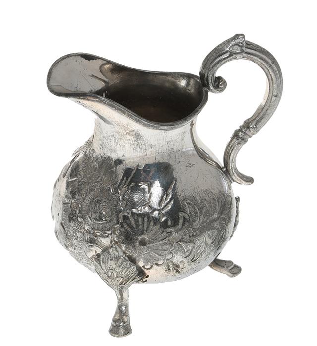 Молочник викторианской эпохи. Металл, глубокое серебрение. Великобритания, конец ХIХ века