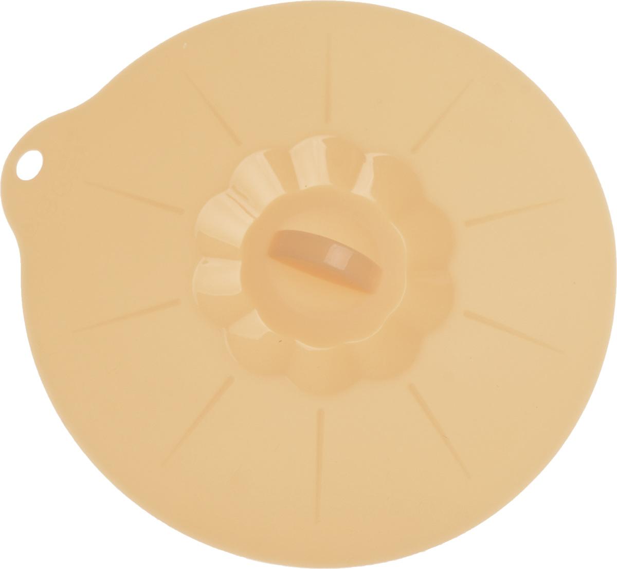 Крышка универсальная Tescoma Fusion, силиконовая, цвет: оранжевый, диаметр 20 см638452Универсальная крышка Tescoma Fusion выполнена из первоклассного жаропрочного силикона, который выдерживает температуру от -40 до +230°С. Изделие предназначено для воздухонепроницаемого закрывания всей стандартной посуды с плоскими краями, особенно мисок и кастрюль, с диаметром меньшим, чем диаметр самой крышки. Можно использовать для металлической, стеклянной, керамической и пластмассовой посуды. Крышка подходит для использования во всех видах духовок, микроволновой печи. Можно мыть в посудомоечной машине.