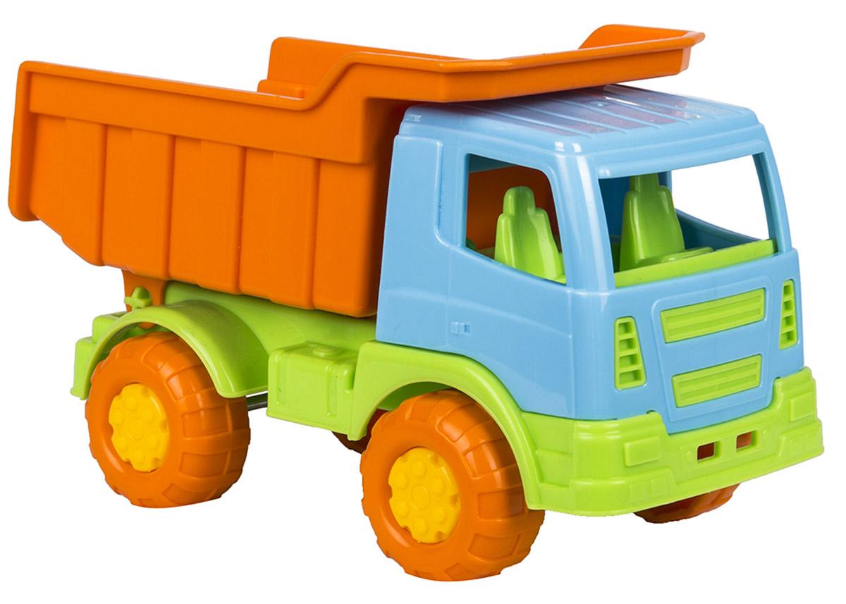 Полесье Самосвал Тема цвет оранжевый голубой3253_оранжевый, голубойСамосвал Полесье Тема обязательно понравится вашему малышу и надолго увлечет его. Игрушка выполнена из прочного высококачественного полипропилена. Самосвал имеет просторный кузов, который можно наполнить песком или важным игрушечным грузом. Кузов откидывается, что предоставит малышу дополнительный простор для игры. Колесики машинки оснащены протектором и имеют свободный ход. Игры с такой машинкой развивают концентрацию внимания, координацию движений, мелкую моторику рук, цветовое восприятие и воображение. Малыш будет часами играть с этим самосвалом, придумывая разные истории. Порадуйте своего ребенка такой замечательной игрушкой!