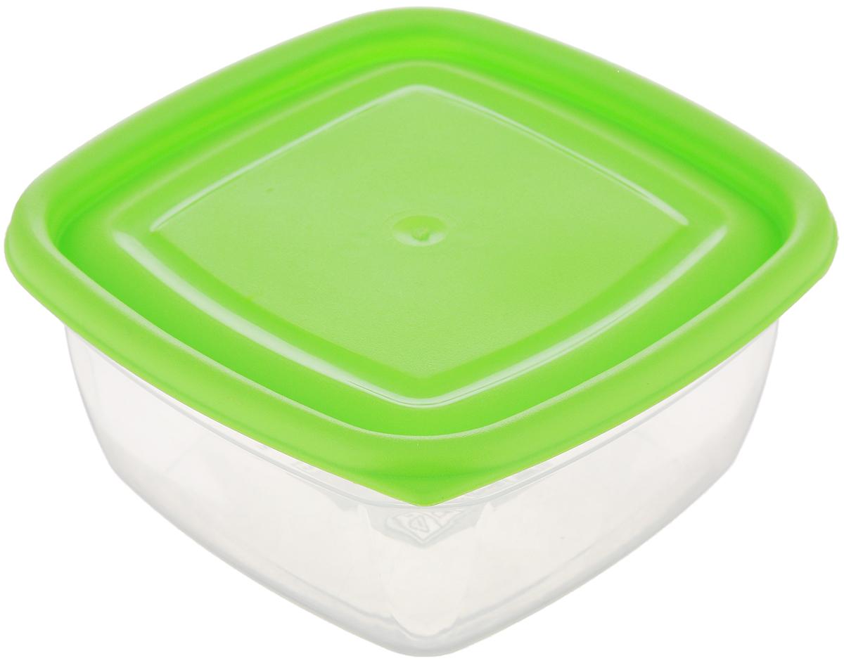 Контейнер Dunya Plastik, цвет: прозрачный, салатовый, 350 мл30071_салатовыйПищевой контейнер Dunya Plastik изготовлен из высококачественного пищевого пластика, который выдерживает температуру от -25°С до +95°С. Контейнер безопасен для здоровья, не содержит BPA. Контейнер имеет квадратную форму и оснащен плотно закрывающейся крышкой. Продукт подходит для контакта с пищевыми продуктами. Можно мыть в посудомоечной машине и использовать в СВЧ-печи (без крышки).