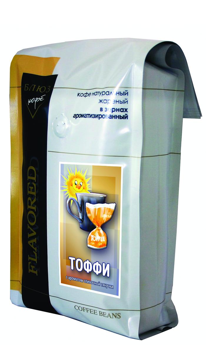 Блюз Ароматизированный Тоффи кофе в зернах, 1 кг
