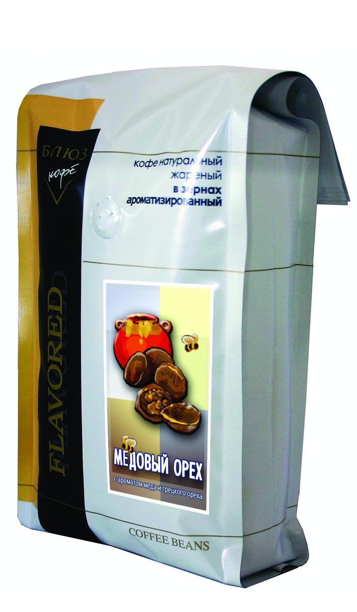 Блюз Ароматизированный Медовый орех кофе в зернах, 1 кг4600696110166Горьковатый вкус грецкого ореха, сладость свежего пчелиного меда, вкус крепкого черного кофе. Все это заставляет по-новому взглянуть вокруг. Энергия и азарт, вкус силы к новым свершениям. Все эти ощущения подарит вам кофе Блюз Медовый орех кофе. Ведь его рецепт древнее самой матушки природы.