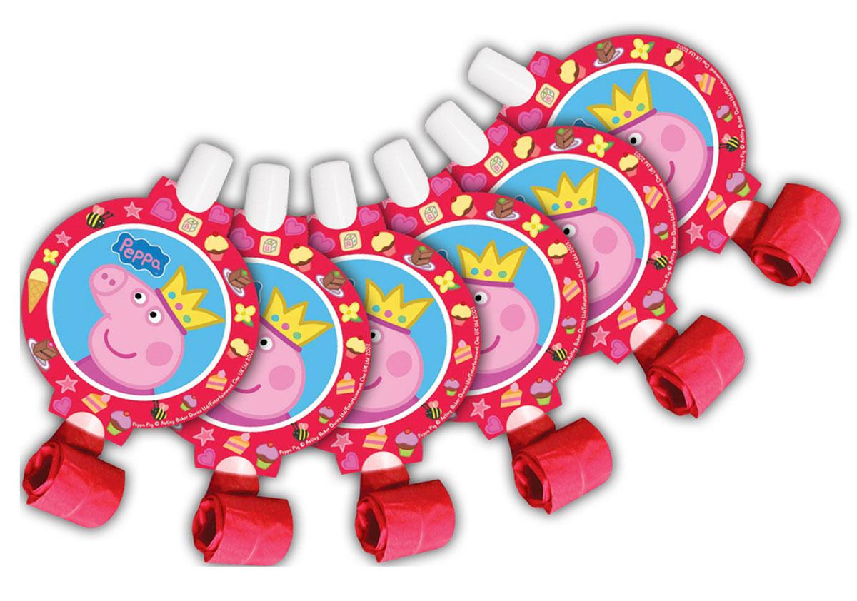 Peppa Pig Язычок Пеппа-принцесса 6 шт28558Каждый малыш ждет с нетерпением приближающийся праздник, ведь этот день наполнен множеством самых разных развлечений. И 6 бумажных язычков Пеппа-принцесса ТМ Свинка Пеппа здесь весьма кстати! Устраивая игры и соревнования, ребята будут не только веселиться от души, но и развивать дыхательную систему, что особенно полезно для их здоровья. А любимая героиня привлечет внимание всех участников торжества без исключения.