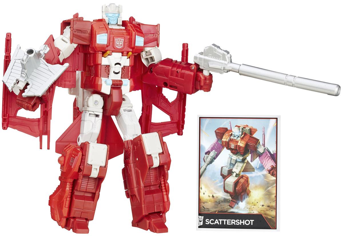 Transformers Трансформер ScattershotB0975EU0_B4664Трансформер Scattershot обязательно понравится любому маленькому поклоннику знаменитых Трансформеров! Фигурка выполнена из прочного пластика в виде трансформера Scattershot. Руки и ноги робота подвижны. В 15 шагов малыш сможет трансформировать фигурку робота в мощный самолет. Фигурка совместима с другими фигурками из серии Combiner Wars. Ребенок с удовольствием будет играть с фигуркой, придумывая разные истории. Порадуйте его таким замечательным подарком!