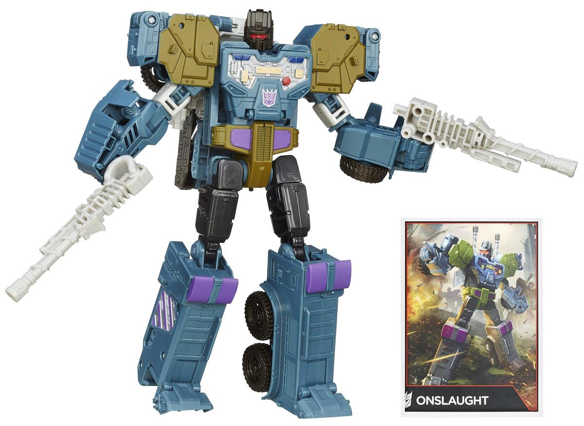 Transformers Трансформер OnslaughtB0975EU0_B4663Трансформер Transformers Onslaught обязательно понравится каждому маленькому поклоннику знаменитых Трансформеров! Фигурка выполнена из прочного пластика в виде трансформера Онслота. Онслот во всем стремится к совершенству. Он считает, что ключ к успеху выполнения миссии - удачно продуманный план, и потому предпочитает реальным боевым действиям битвы интеллекта. В сущности, он предпочел бы сражаться с противником в некоем виртуальном пространстве, где у него была бы возможность тщательно, до мельчайших тонкостей разработать стратегию и продемонстрировать свое отточенное мастерство. Будь он человеком, из него, пожалуй, вышел бы неплохой шахматист - может быть, даже гроссмейстер. Однако и на поле боя, где события не всегда разворачиваются как ожидалось, он не теряется. Боевиконы считают своего командира слегка чудаковатым, но безупречным тактиком. Руки и ноги робота подвижны. В 13 шагов малыш сможет трансформировать фигурку робота в мощную боевую машину. Трансформер совместим с...